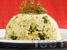 Рецепта Ризото от бял ориз със задушени броколи, лук и сирене пармезан